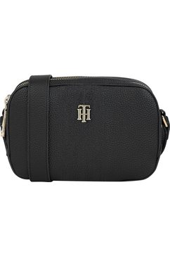 tommy hilfiger mini-bag th essence camera bag met 2 ritsvakken zwart