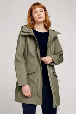 tom tailor regenjack »leichte beschichtete regenjacke« groen