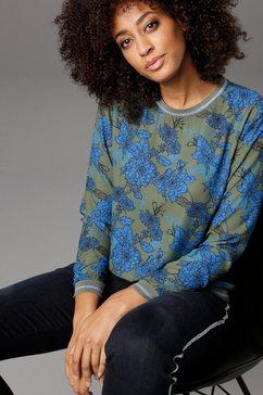 aniston selected shirtblouse met glinsterende boord groen