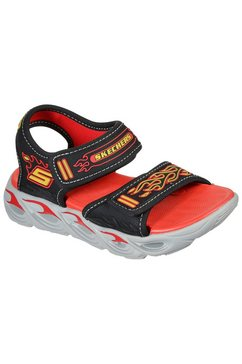 skechers kids sandalen thermo-splash met vlammenapplicatie zwart