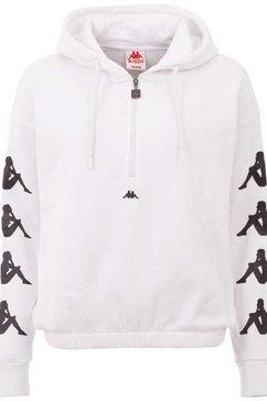 kappa hoodie »havida« wit