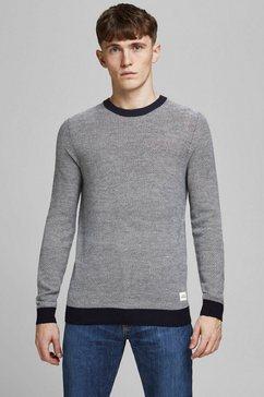 jack  jones trui met ronde hals »tons knit crew neck« blauw