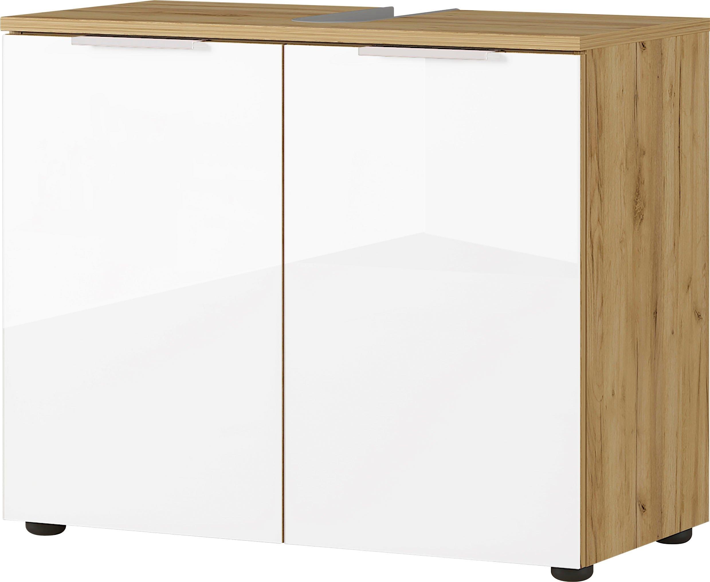 GERMANIA wastafelonderkast Avino Breedte 70 cm, glazen fronten, soft-closefunctie nu online bestellen