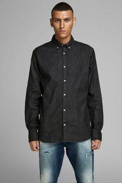 jack  jones jeansoverhemd »leon stretch denim shirt« zwart