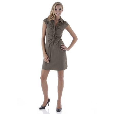 Picture TAMARIS jurk met overhemdkraag bruin 561239