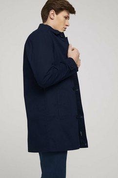tom tailor trenchcoat »kurzer mantel aus twill« blauw
