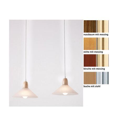 LAUE Houten hanglamp met 2 fittingen