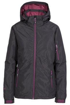 trespass ski-jack dames ski-jack sheelin, met capuchon en klittenbandsluiting, weerbestendig zwart
