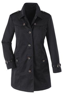 classic inspirationen coat met vele karakteristieke details zwart