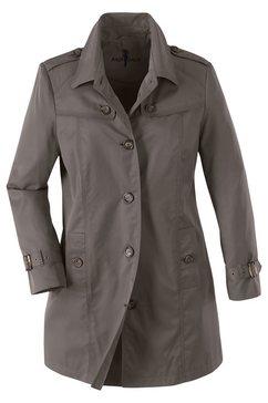 classic inspirationen coat met vele karakteristieke details bruin