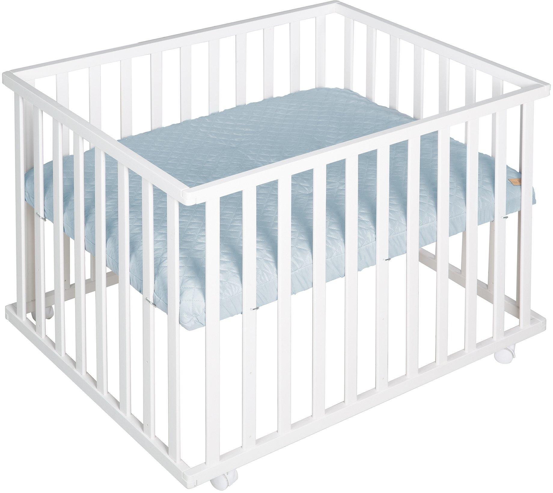 Roba box Style wit, 75x100 cm met boxinleg lichtblauw / sky voordelig en veilig online kopen