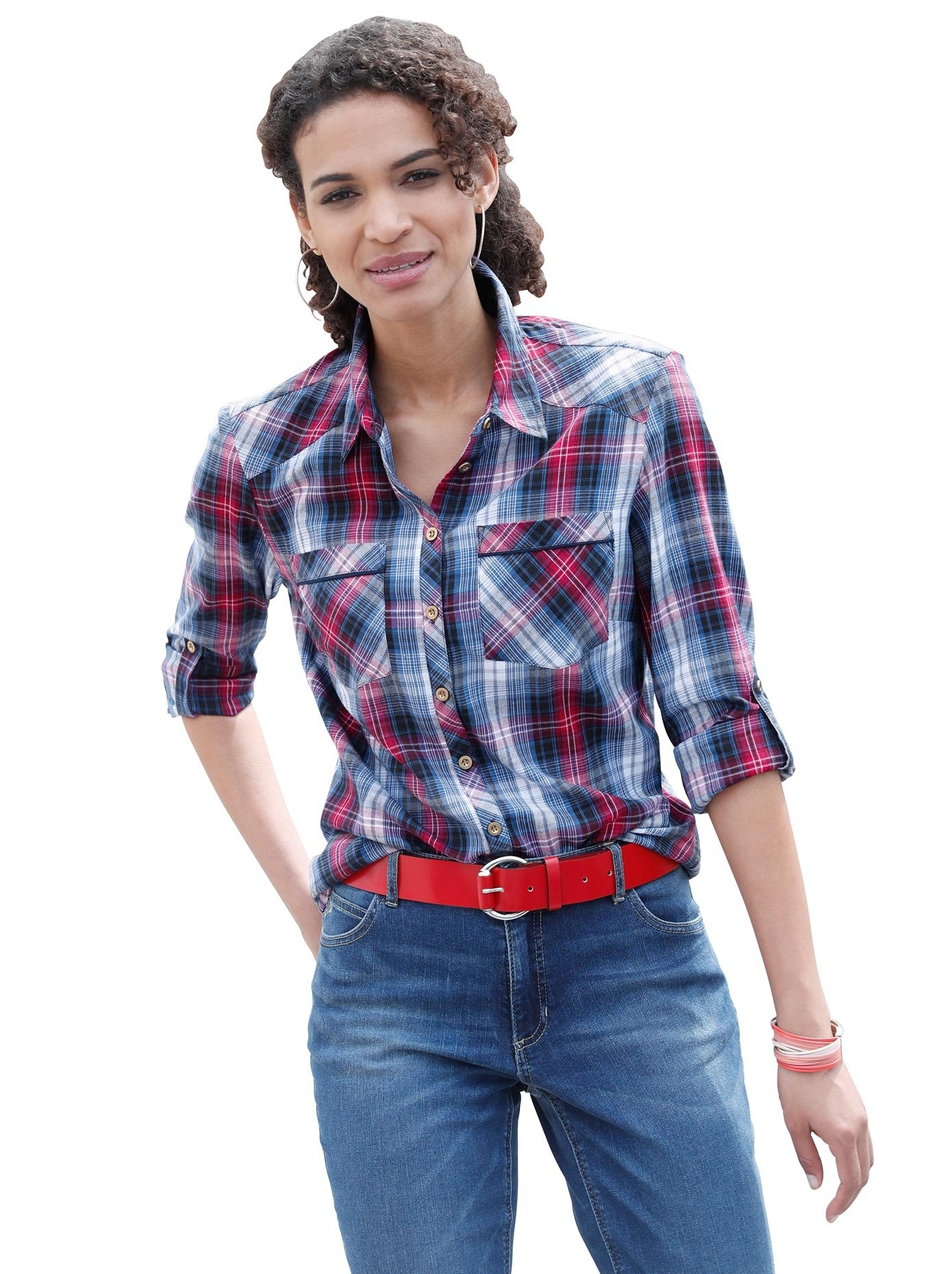 Casual Looks blouse van zacht flanel nu online bestellen