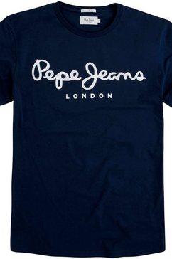 pepe jeans shirt met ronde hals »original stretch«