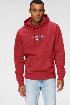 tommy jeans hoodie tjm timeless tommy hoodie 1 rood