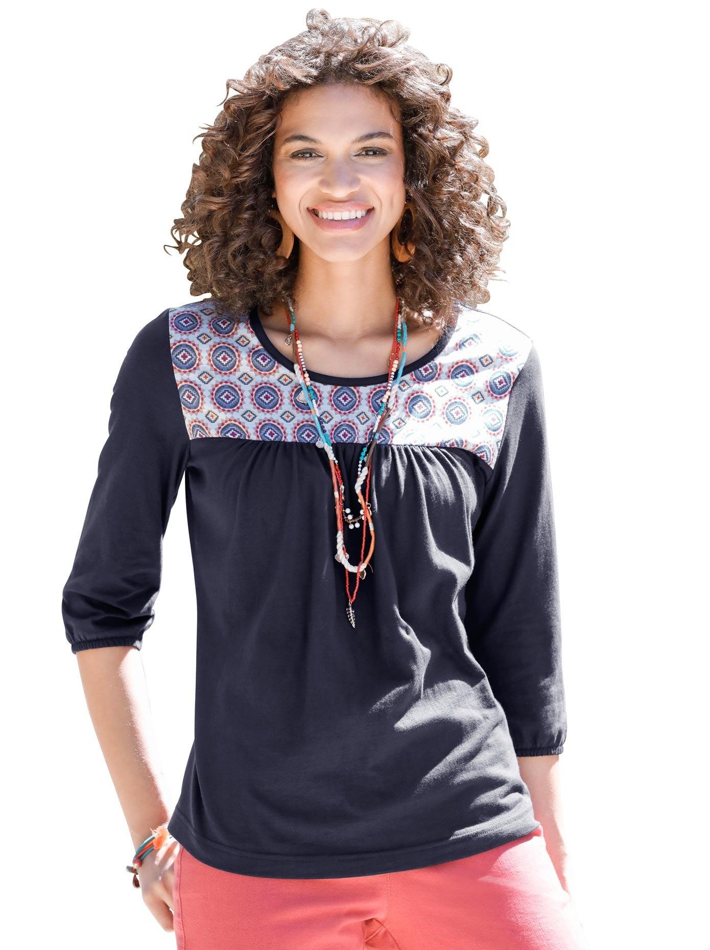 Classic Basics shirt met gedessineerde pas en verhullende plooival bij OTTO online kopen