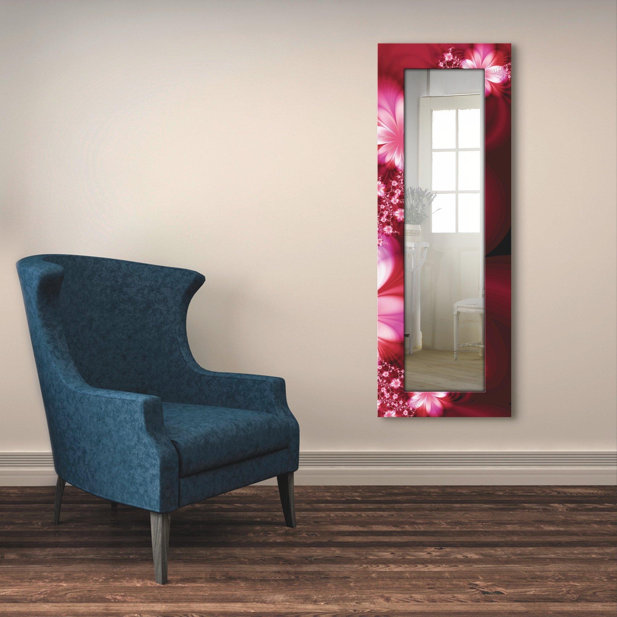 Artland wandspiegel Guirlande van bloemen ingelijste spiegel voor het hele lichaam met motiefrand, geschikt voor kleine, smalle hal, halspiegel, mirror spiegel omrand om op te hangen - gratis ruilen op otto.nl