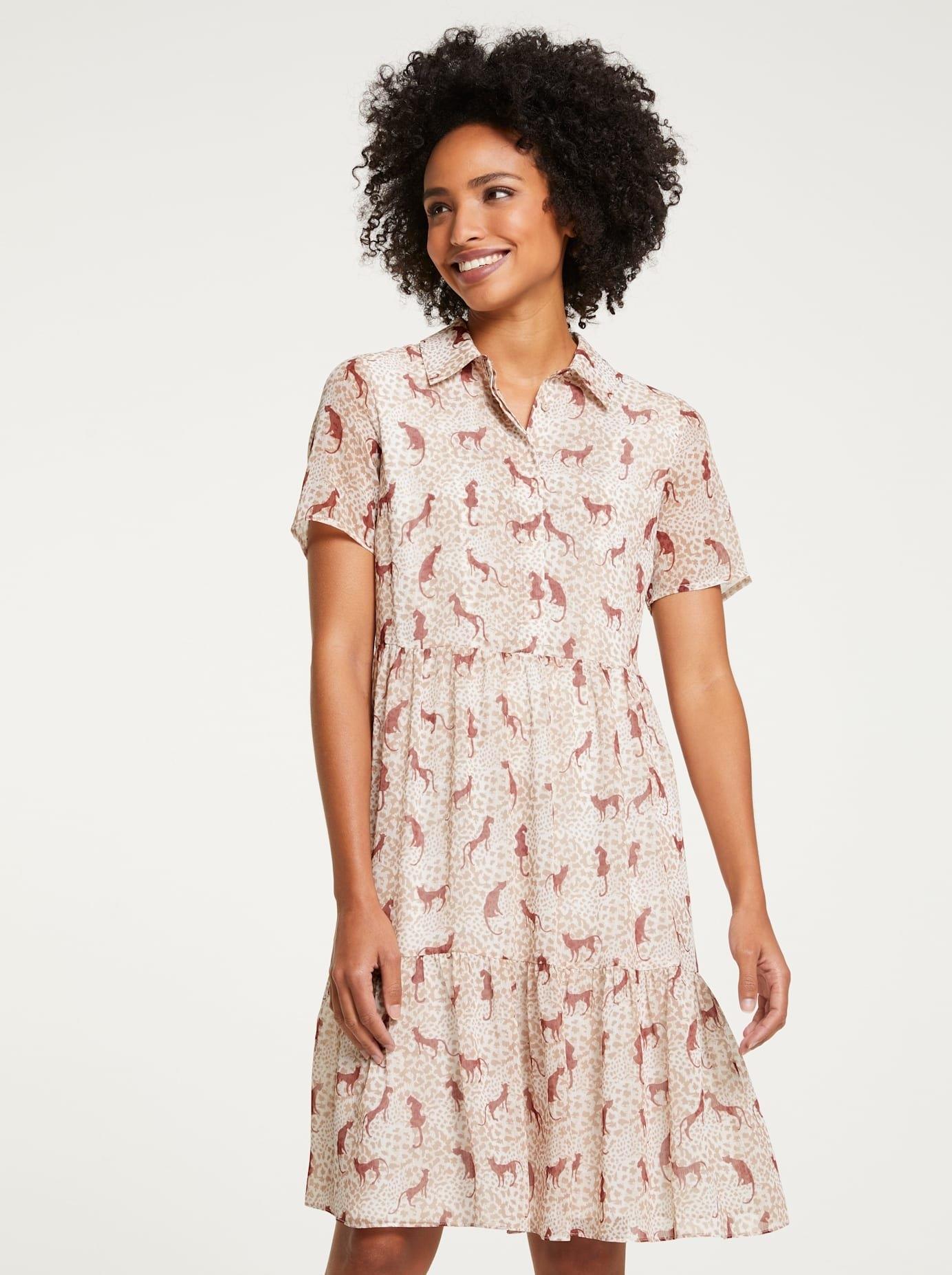 Op zoek naar een LINEA TESINI by Heine gedessineerde jurk? Koop online bij OTTO