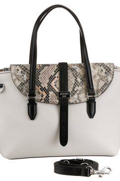 joop jeans tas mezza luna snake rosalie handbag shf met trendy animal-print wit