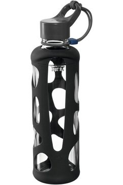 leonardo drinkfles to go fles ii in giro glas-silicone, 500 ml grijs