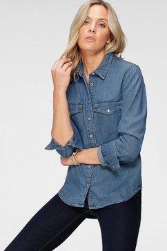 levi's jeansblouse »essential western« blauw