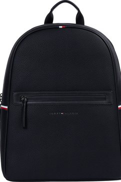 tommy hilfiger rugzak »essential pu backpack« zwart