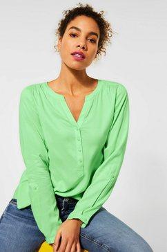 street one blouse met lange mouwen bamika met pas achter groen