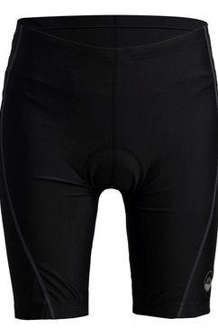 polarino fietsbroekje met ergonomisch zitkussen en ritszak zwart