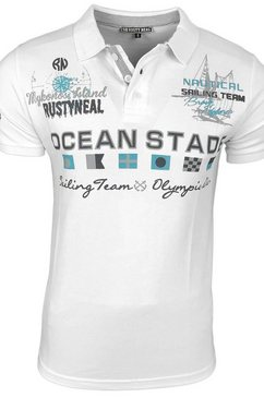 rusty neal poloshirt »a1-rn-15215« wit