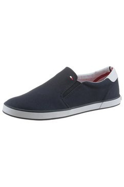 tommy hilfiger instappers »iconic slip on sneaker« blauw