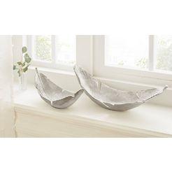 guido maria kretschmer homeliving decoratieve schaal uit aluminium (set, 2 stuks) zilver