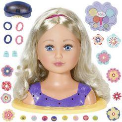 baby born kap-  make-uphoofd sister styling head, paars met 24 leuke accessoires multicolor
