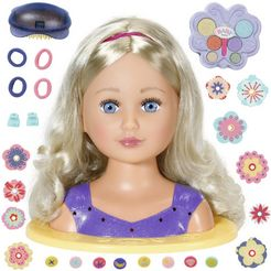 baby born »sister styling head, lila« kap-  make-uphoofd multicolor