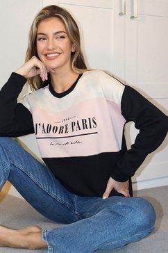 lipsy sweatshirt met frontprint zwart