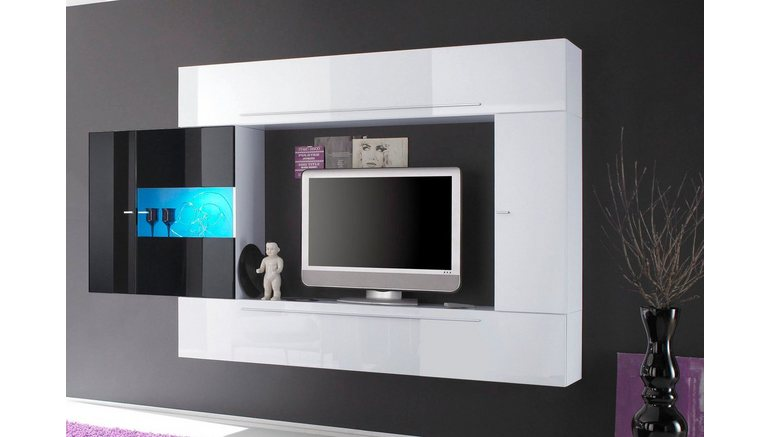 tv mediawand breedte 272 cm 4 delig bestellen bij otto. Black Bedroom Furniture Sets. Home Design Ideas