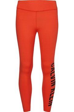 calvin klein performance functionele legging full length met calvin klein-logo-opschrift oranje