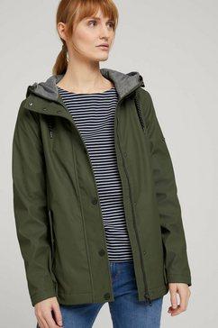tom tailor regenjack »regenjacke mit kapuze« groen
