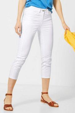 cecil 7-8-broek stijl vicky slim fit-basic broek wit