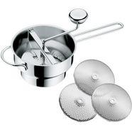 wmf passeerzeef gourmet met 3 zeefinzetten (4 stuks) zilver