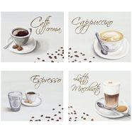 home affaire artprint »koffie«, (4-dlg.), elk 29x23 cm wit