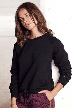 buffalo sweatshirt met verstelbaar rijgkoord in de zoom zwart