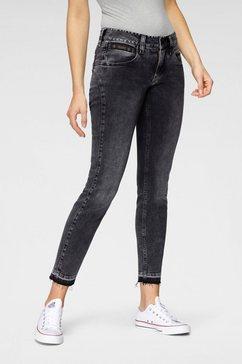 herrlicher 7-8 jeans »touch cropped« grijs