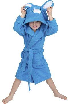 wewo fashion kinderbadjas 8024 (1 stuk) blauw