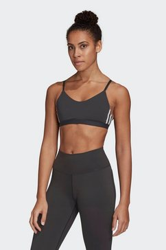 adidas performance sport-bh »am 3 stripes bra« zwart