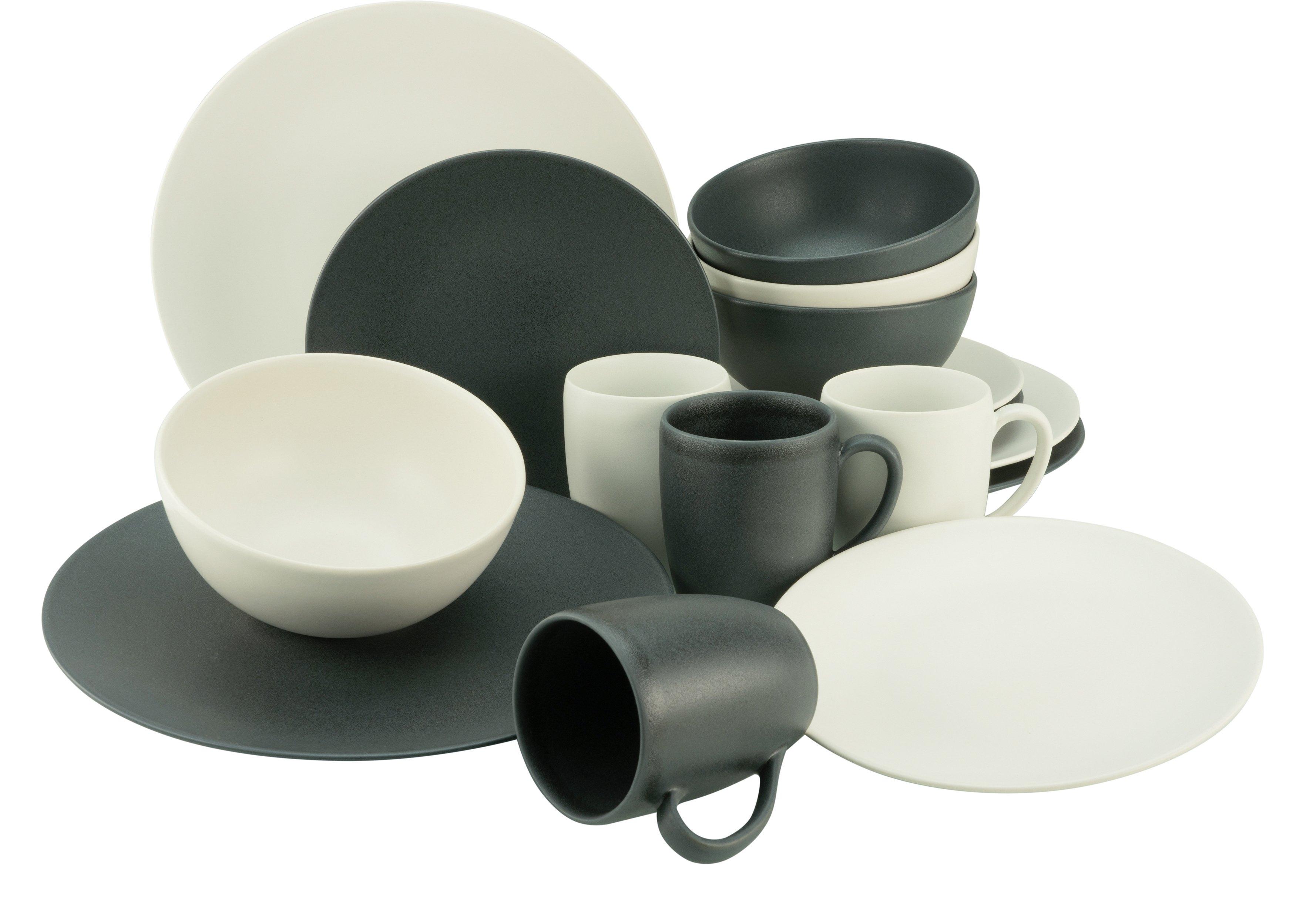 Op zoek naar een CreaTable combi-servies Soft Touch Black & White halfglans glazuur (set, 16 delig)? Koop online bij OTTO