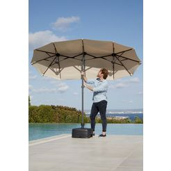 garten gut parasol »malaga«, h: 220 cm, inclusief beschermhoes, zonder paraplustandaard beige