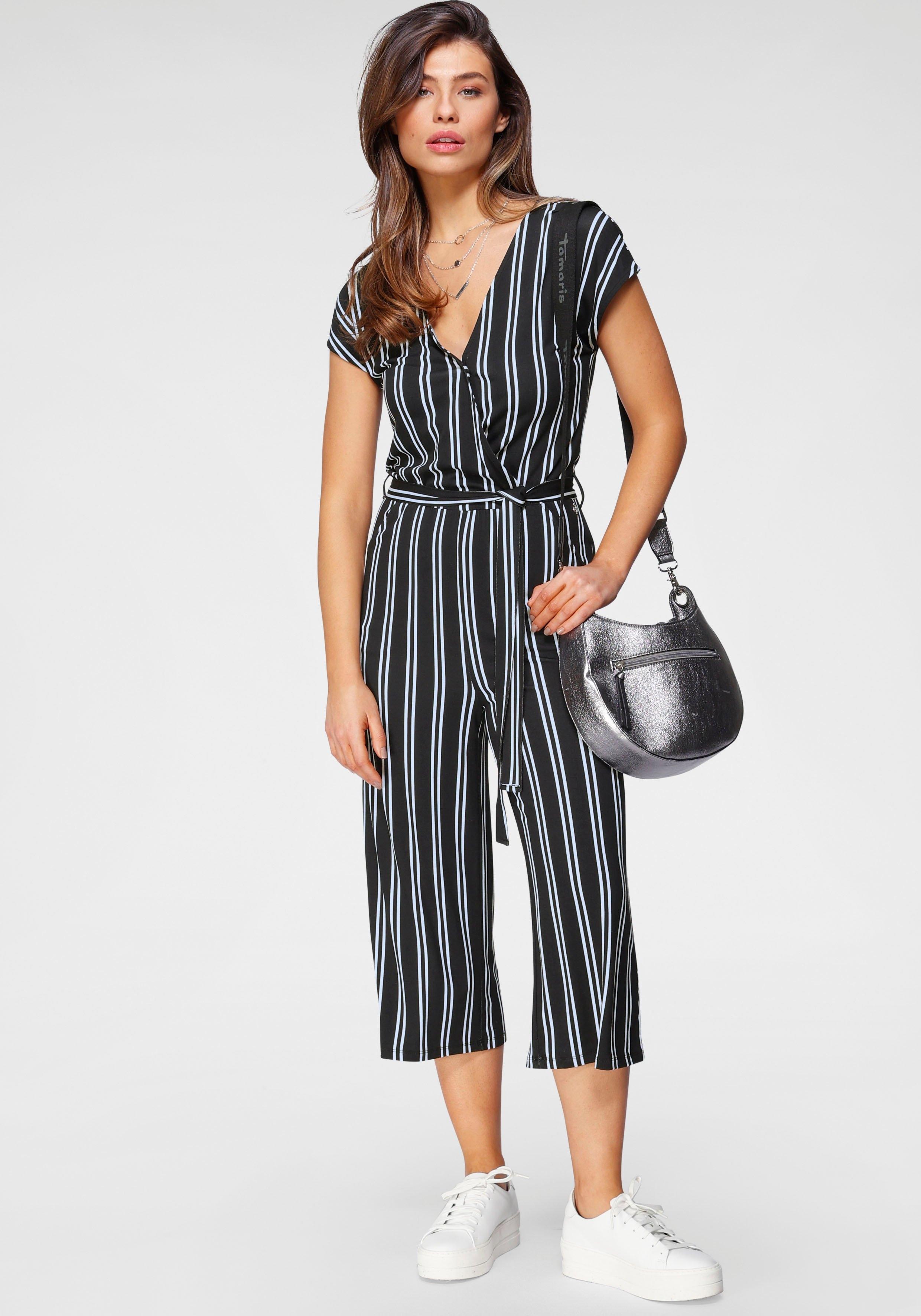 Tamaris jumpsuit in culotte-stijl met een bindceintuur in de webshop van OTTO kopen