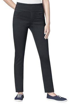 casual looks broek met hoge rondom elastische band blauw