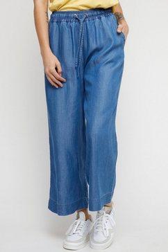 mazine culotte chilly zomerse broek met zakken opzij blauw