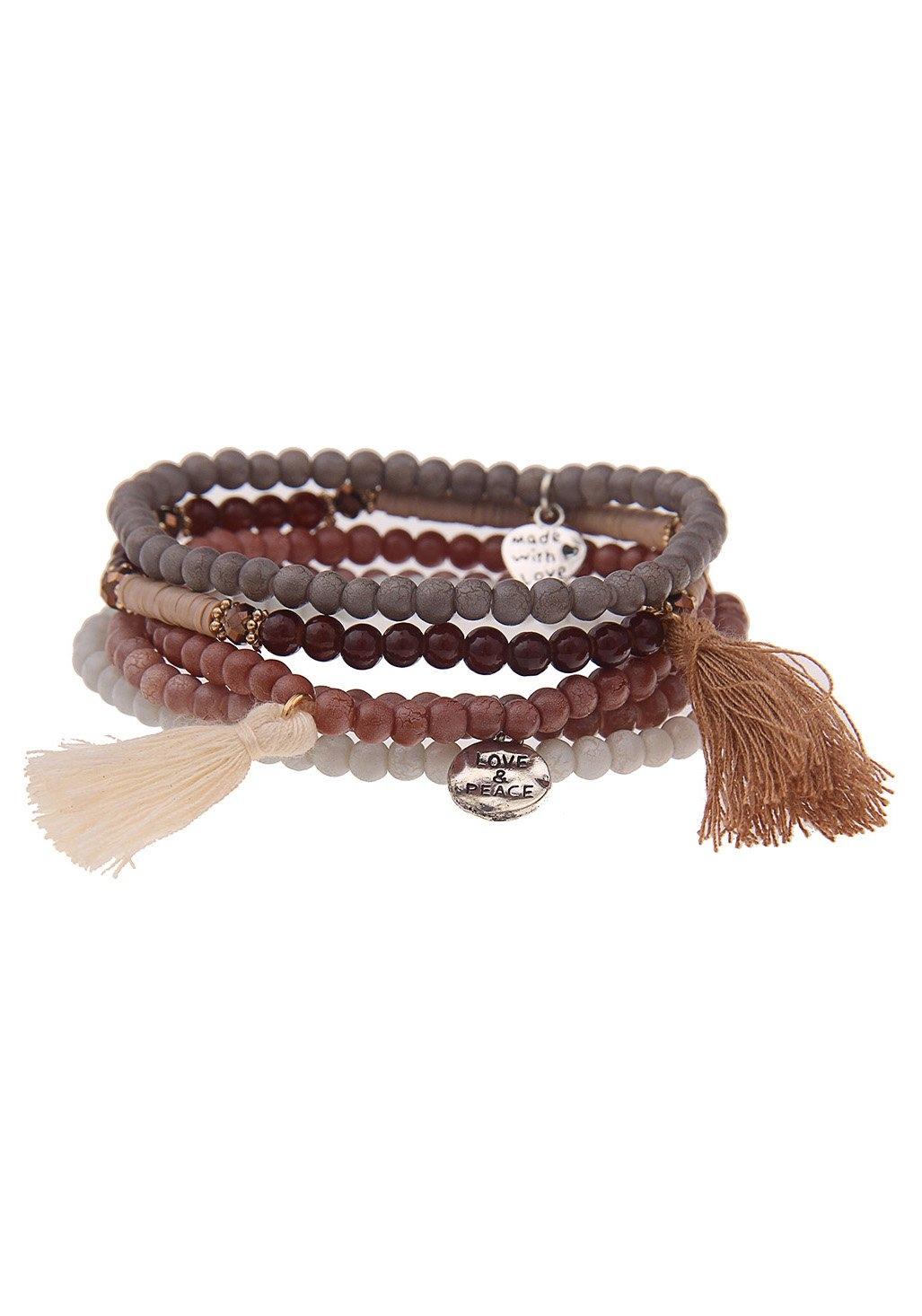 leslii armbandset met natuurstenen (set, 5-delig) voordelig en veilig online kopen