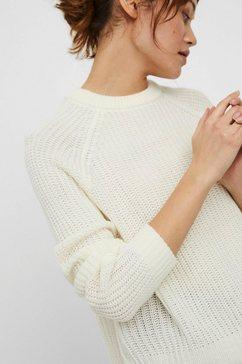 vero moda trui met ronde hals »vmlea« wit